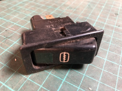 Heater Rear Window Switch, USED